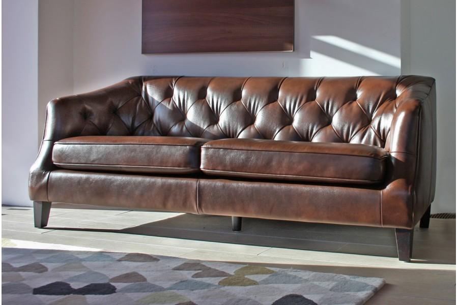 Elegant padded sofa