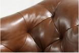 Elegant padded sofa detail